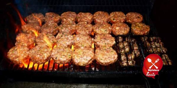 Grill-Rawang Burger Bakar
