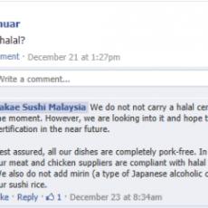 Sakae Sushi Halal atau Tidak