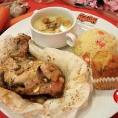 Set Teriyaki Chicken bersama Sup Cendawan dan Nasi dar Kenny Rogers Roaster