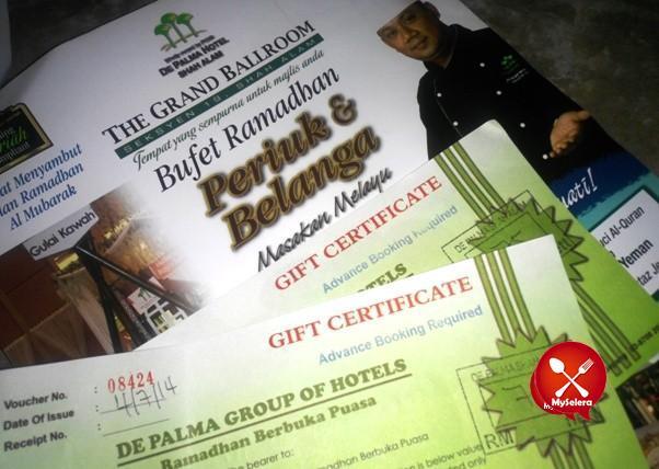 Promosi Buffet Ramadhan 2014 De Palma Hotel Shah Alam