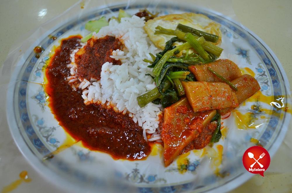 Nasi lemak kukus kangkung FAM