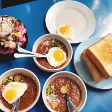 Minum Petang di Restoran Kacang Pool Haji Larkin Bomba