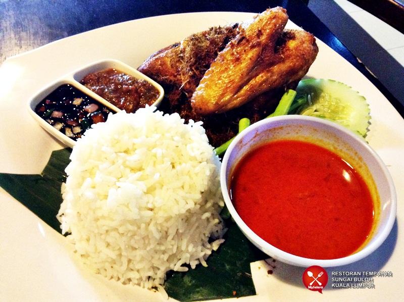Set Nasi dan Ayam Kampung Berempat. Restoran Tempayan Sungai Buloh