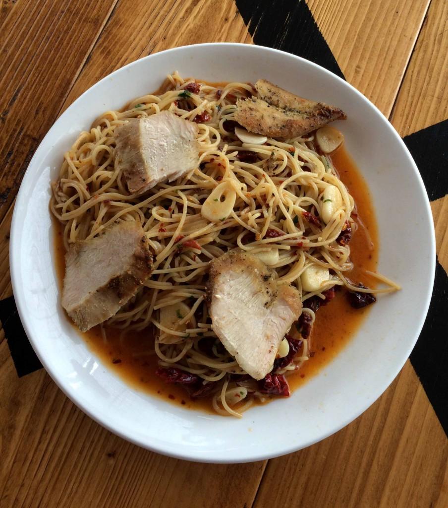 Spicy Chicken Aglio Olio