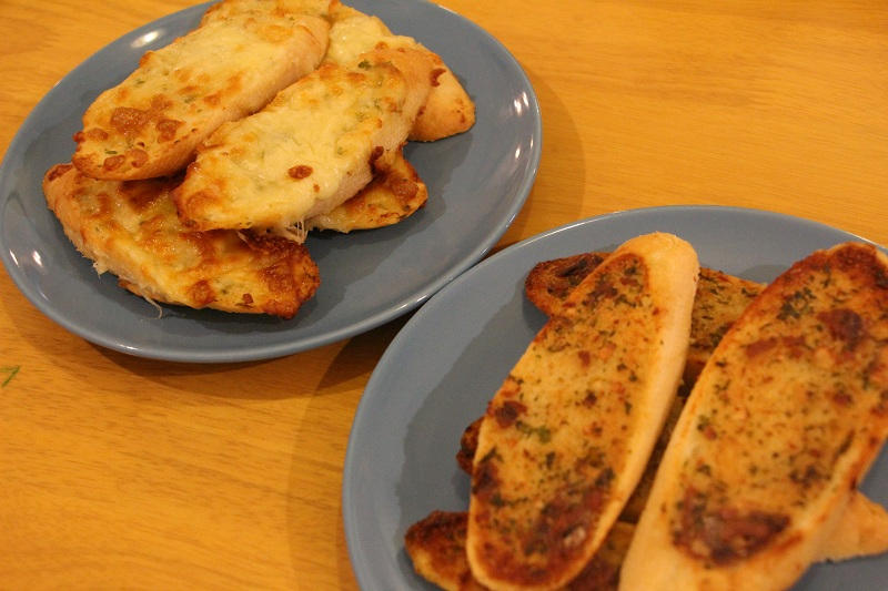 Garlic Cheese Bread + Anchovy Toast Bread