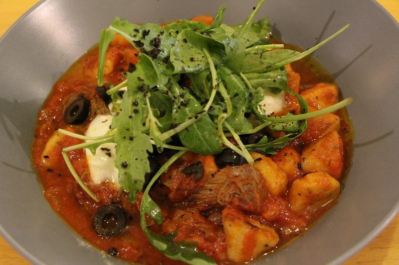 Gnocchi with Shredded beef and fresh Mozzarella