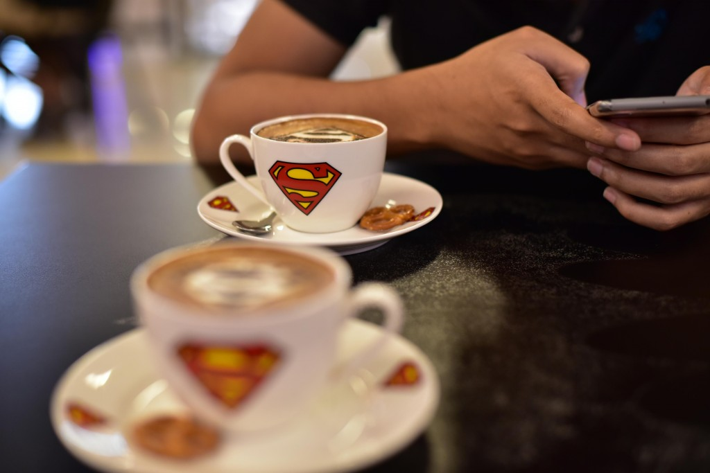 Dc Comics Superheros Cafe